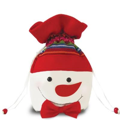 """Подарочный мешок-шапка """"Снеговик"""", текстильная новогодняя упаковка"""