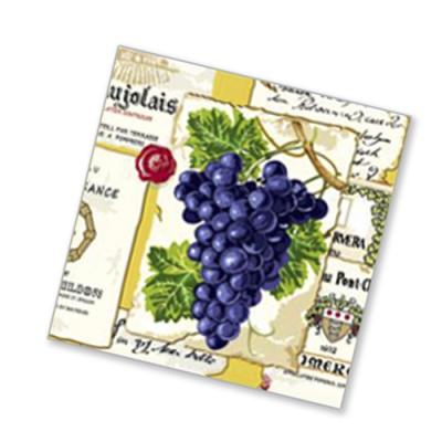 "Салфетки бумажные 2сл., 33x33, ""Виноград"", 20шт."