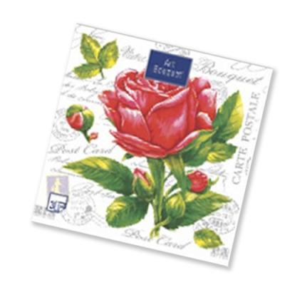 "Салфетки бумажные 2сл., 33x33, ""Роза NEW"", 20шт."