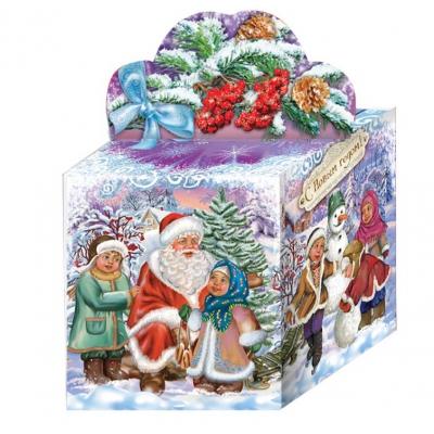 Новогодняя подарочная коробка «Винтаж» NEW 300 гр, новогодняя упаковка