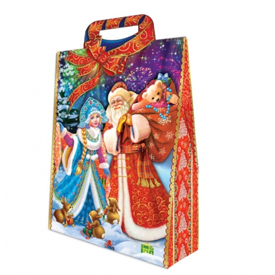"""Новогодняя подарочная коробка """"Традиция"""" 2000 гр, новогодняя упаковка"""