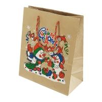 Крафт-пакет Снеговики с письмом