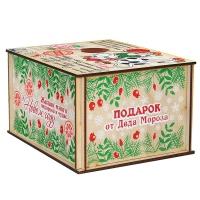 Посылка от Деда Мороза СИМВОЛ, 500 г, новогодняя упаковка из фанеры, для конфет, подарков