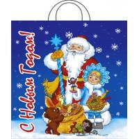 Пакет новогодний Праздничный мешок, 38х42 см, 40 мкм