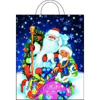 Пакет новогодний Подарочки, 28х35 см, 55 мкм