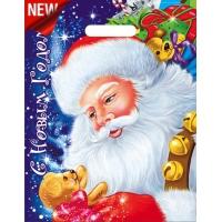 Пакет новогодний Долгожданный подарок, 30х40 см, 35 мкм