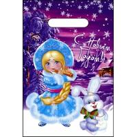 Пакет новогодний Волшебная песенка, 20х30 см, 30 мкм