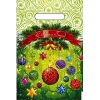 Пакет новогодний Шарики-Фонарики, 20х30 см, 30 мкм