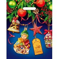 Пакет новогодний В Гостях у Ёлочки, 31х40 см, 60 мкм
