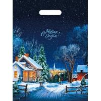 Пакет новогодний Снежная дорожка, 30х40 см, 35 мкм