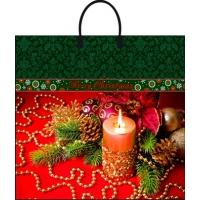 Пакет новогодний Новогоднее убранство 38х35 см, 90 мкм