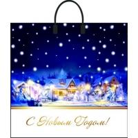 Пакет новогодний Первый снег 38х35 см, 90 мкм