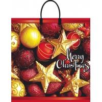 Пакет новогодний Калейдоскоп 38х35 см, 90мкм