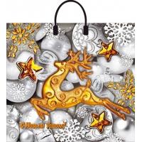 Пакет новогодний Серебро 38х35 см, 90 мкм