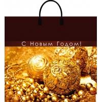 """Пакет новогодний """"Золотая сказка"""" 38х35 см, 90 мкм"""