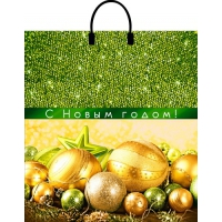 Пакет новогодний Сияющий праздник, 40х44 см, 100 мкм