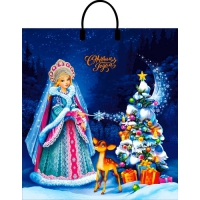Пакет новогодний Сказочная фея, 40х44 см, 100 мкм