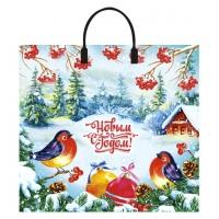 Пакет новогодний Птичья трель, 37х34 см, 80 мкм