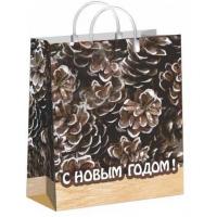 """Пакет новогодний """"Кедр"""", 23х27 см, 150 мкм"""