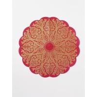 Салфетки бумажные 3сл. Rondo Золотой орнамент на бордовом, , d=32 см, 12 шт.