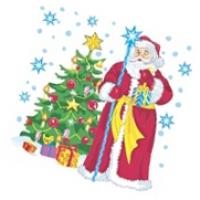 """Салфетки 25х25, 40 шт,1 сл, НГ """"Дед Мороз и ель"""""""
