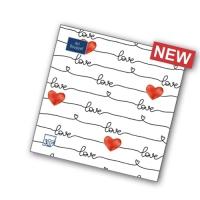 """Салфетки 33х33, 20 шт, 3 сл.,""""Love и сердце"""""""