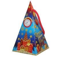 """Новогодняя упаковка """"Пирамидка СИМВОЛ"""", 300 гр, картонная подарочная коробка 2021 год быка"""