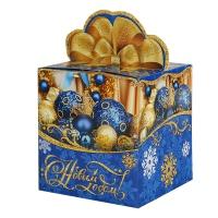 """Подарочная упаковка """"Синие шары"""", 300-400 гр"""