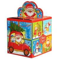 """Новогодняя упаковка """"Мультик 0.4"""", 300-400 гр, картонная подарочная коробка для конфет"""