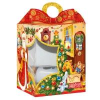 """Новогодняя упаковка с окном """"Коттедж"""", 1500 гр"""