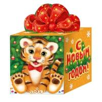 """Новогодняя упаковка """"Кубик СИМВОЛ"""", 300-400 г"""