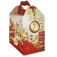 """Подарочная упаковка """"Город Золотой"""" 2500 гр, картонная новогодняя упаковка для конфет"""