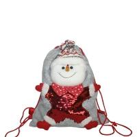 """Мешок-рюкзак с пайетками """"Снеговик"""", 1700 гр"""