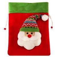 """Подарочный мешок """"Санта"""", 1700 гр, текстильная новогодняя упаковка для подарков, конфет"""