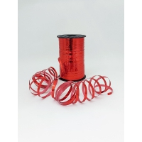 Лента подарочная металлизированная, красная 5мм/250м