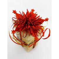 Декоративные подарочные ленты на шпуле 6шт 5мм*5м золото-красный