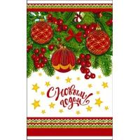 """Пакет ПП металлизированный """"Новогодние шары"""", 250х400 мм, 35 мкм"""