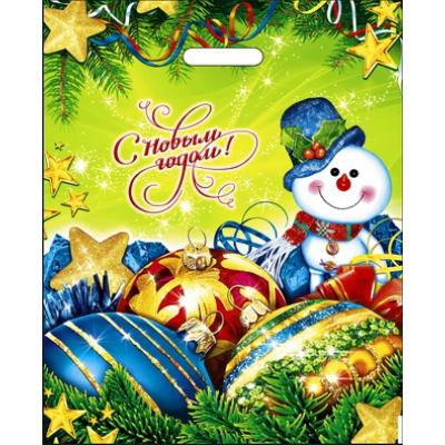 Пакет новогодний Волшебство 38х47, 60 мкм