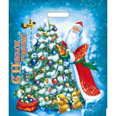 Пакет новогодний Мороз Иванович 40х47, 45 мкм