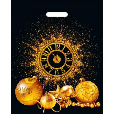 Пакет НГ 5 минут 38х47, 60 мкм, новогодняя упаковка