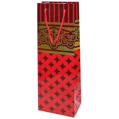 """Пакет подарочный кант люкс """"Красный"""" с тиснением B"""
