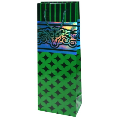 """Пакет подарочный кант люкс """"Зелёный"""" с тиснением B"""