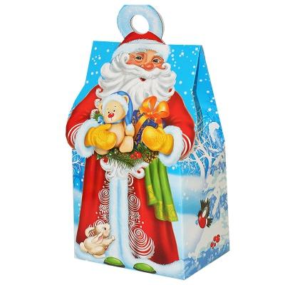 """Новогодняя упаковка """"Морозик"""", 400-500 гр, картонная подарочная коробка для конфет, детских подарков"""
