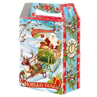 """Новогодняя упаковка """"Олень"""", 1000 гр, картонная подарочная коробка для конфет"""