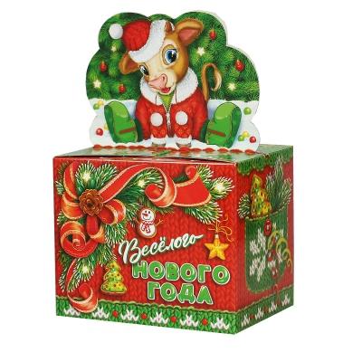 """Новогодняя упаковка """"МАЛЫШ"""", 800 гр, картонная подарочная коробка для конфет, детских подарков"""