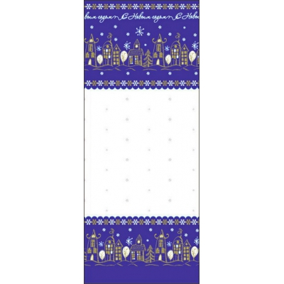 """Пакет ПП металлизированный с центральным швом """"Городок"""",135х380 мм, 60 мкм"""