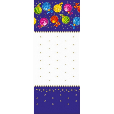 """Пакет ПП металлизированный с центральным швом """"Разноцветные шары"""",160х420 мм, 60 мкм"""