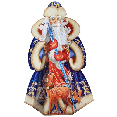 """Подарочная упаковка """"Дед Мороз"""" 2000 гр, картонная новогодняя упаковка для конфет"""
