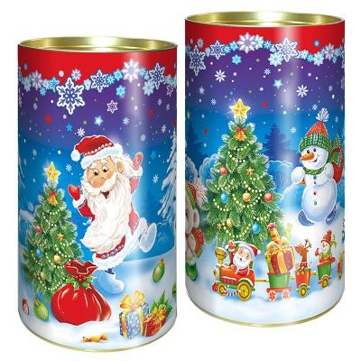 """Подарочные картонные тубы """"У елки"""" 1000 гр"""