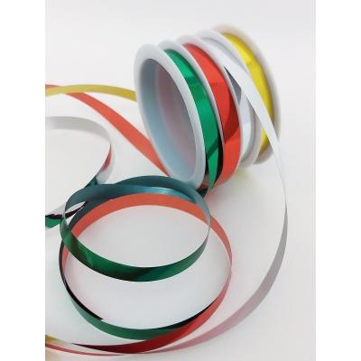 Декоративные подарочные ленты на шпуле 4шт 10мм*3м, зеленый, красный, серебро, золото